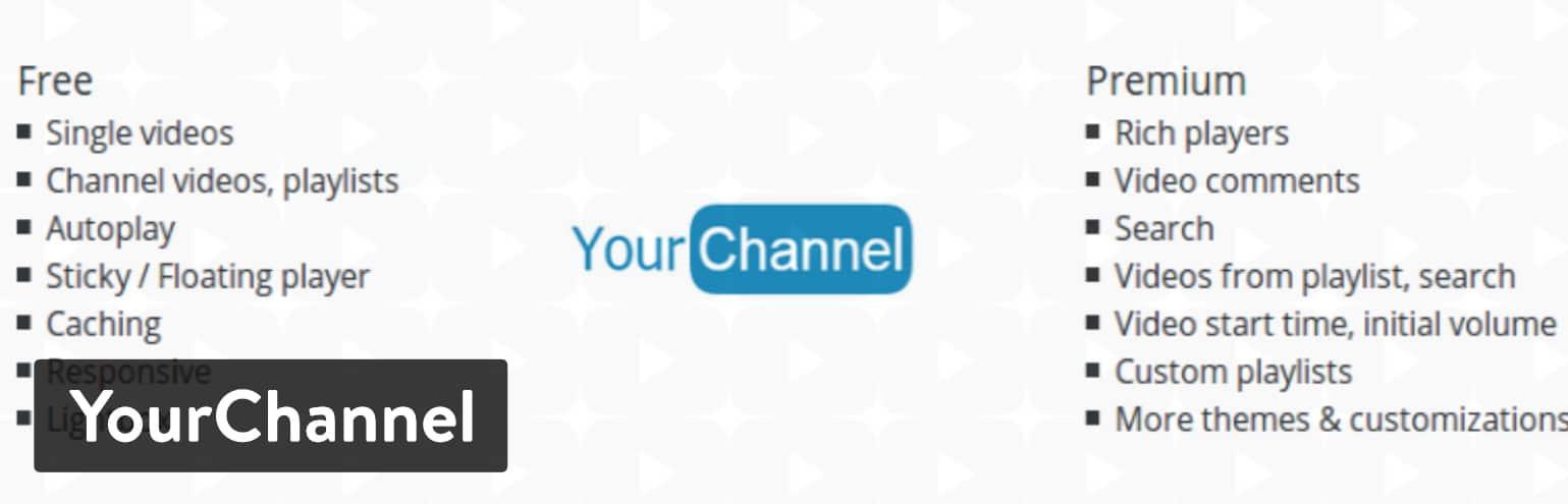 YourChannel WordPress plugin