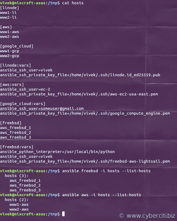 Ansible ansible_ssh_private_key_file example