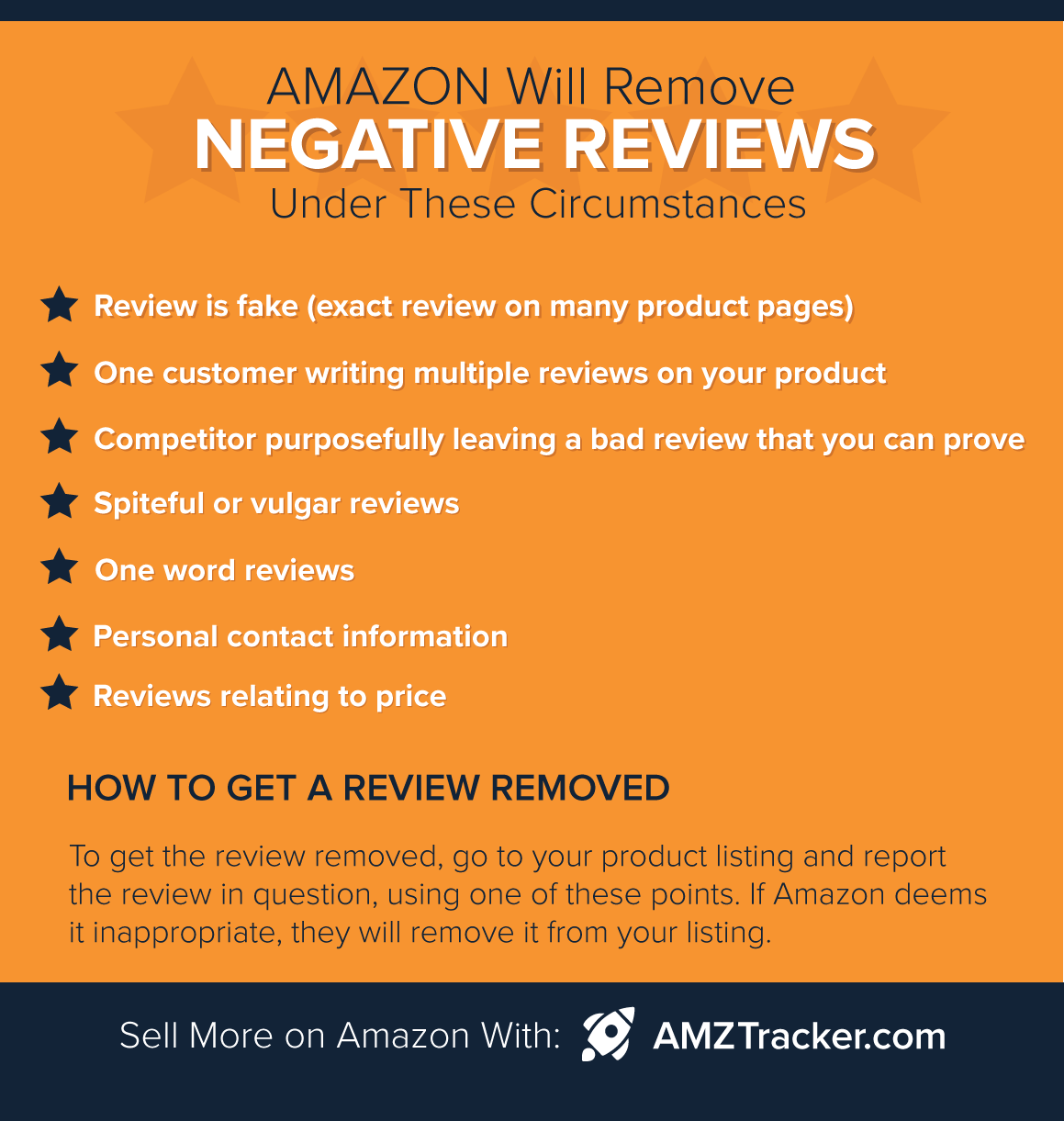 Amazon remove negative reviews