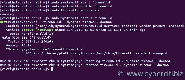 Installing and Managing FirewallD on RHEL 8