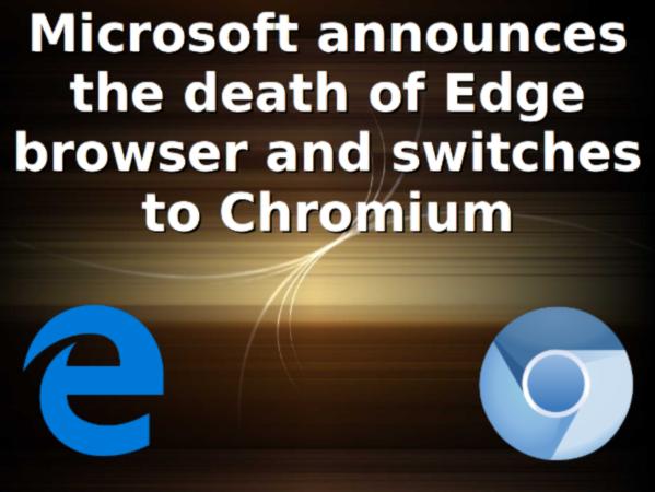 Microsoft is building Edge on top of Chromium