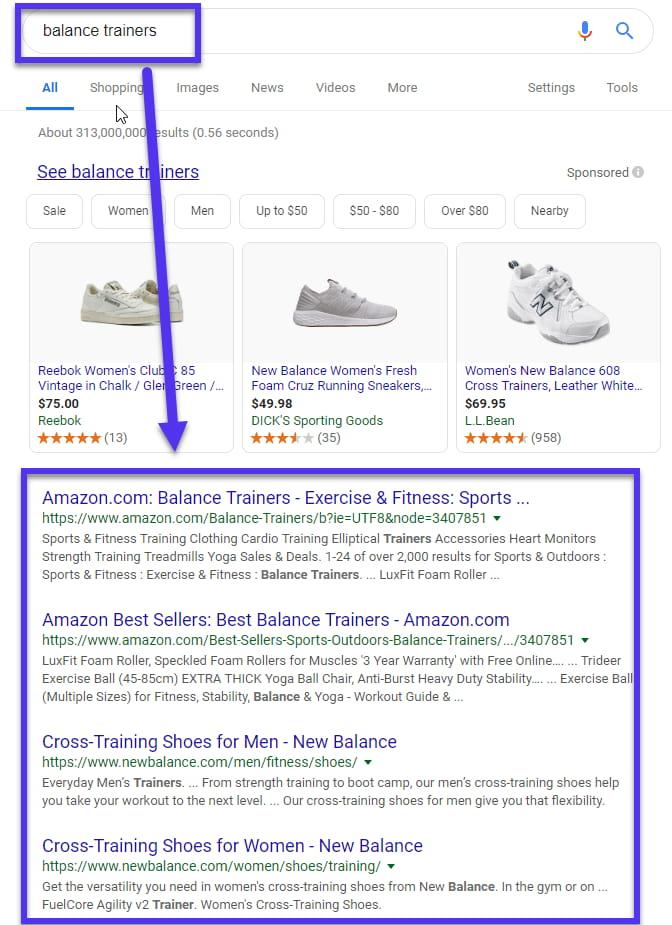 Search network retargeting