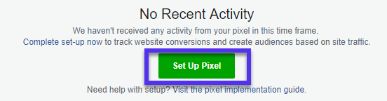 Set up Facebook pixel