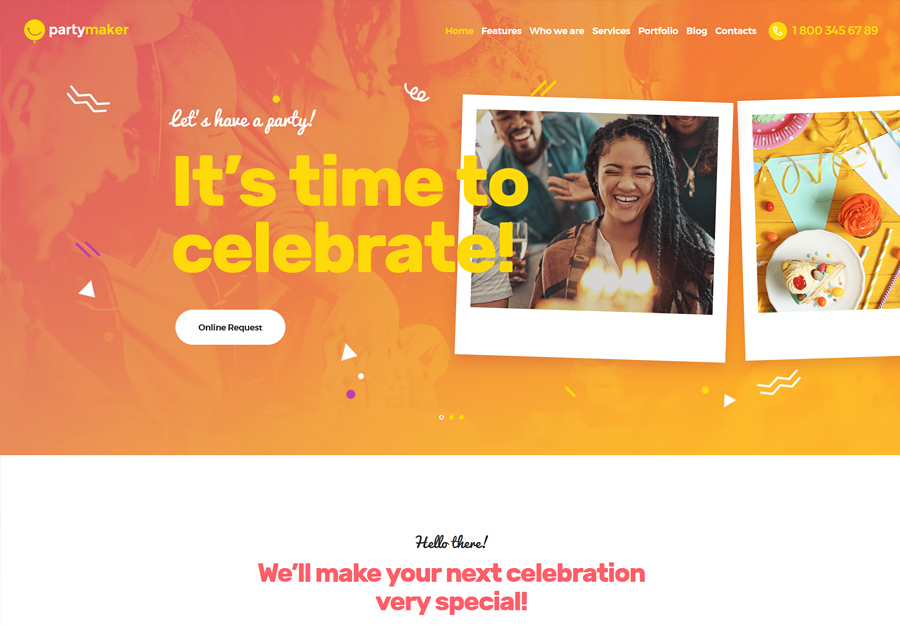 PartyMaker | Event Planner WordPress Theme