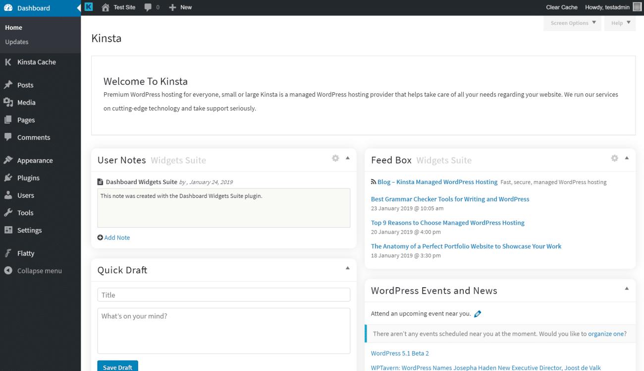 Flatty WordPress admin theme
