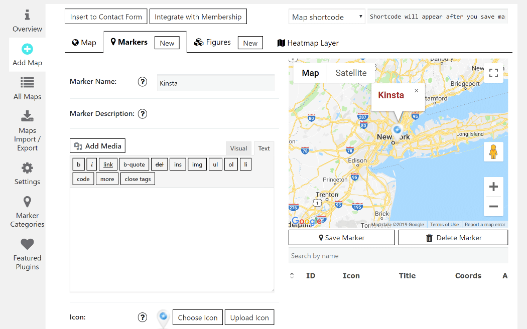 Google Maps Easy interface