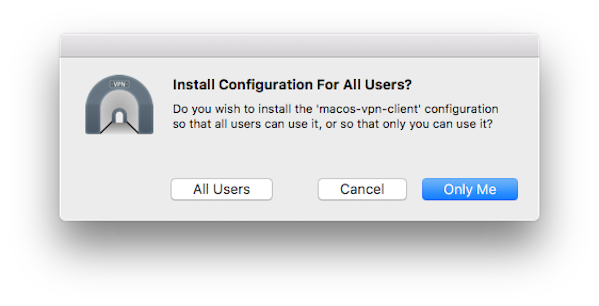 Fig.03: MacOS / OS X openvpn client configuration