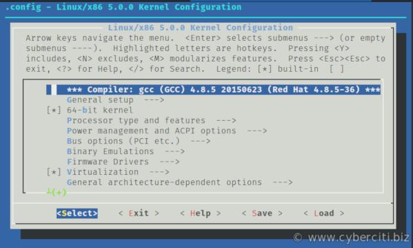 Linux kernel 5.0 config options