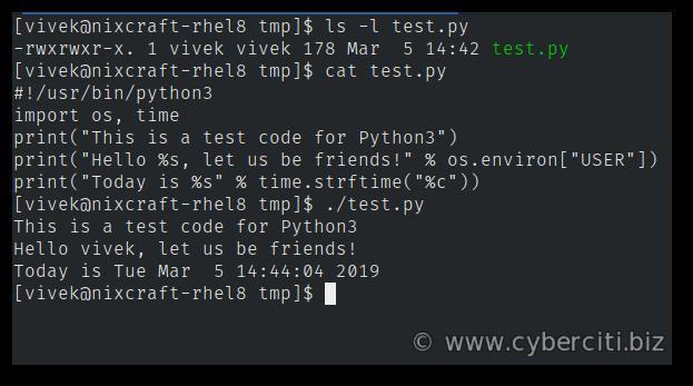 Running python3 app on RHEL 8