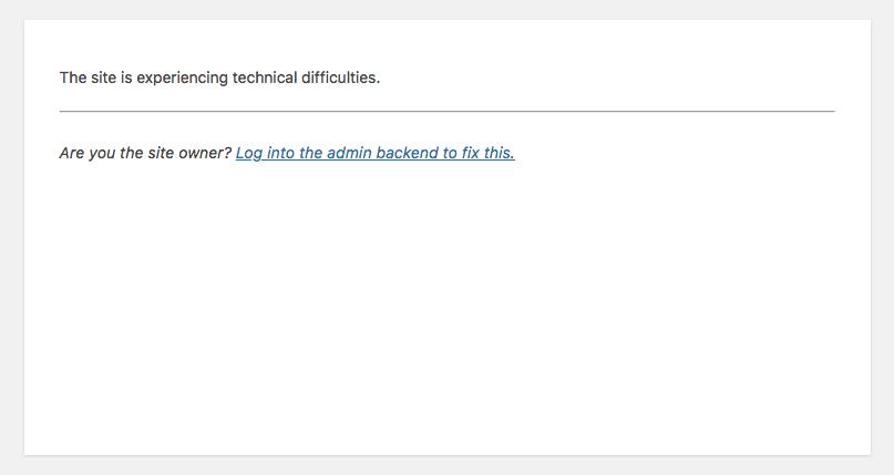 Fatal error protection in WordPress 5.1