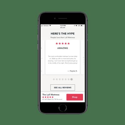 Lull Google customer reviews on mobile