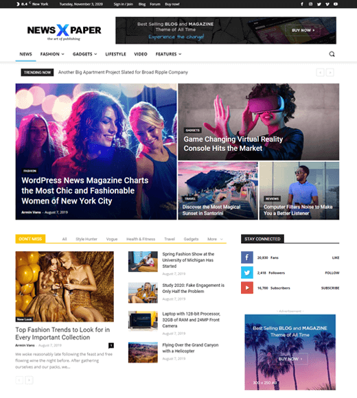 NewsPaper Best WordPress Theme