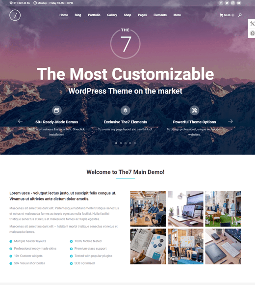 The7 Best WordPress Theme