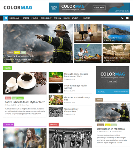ColorMag Theme Demo Page