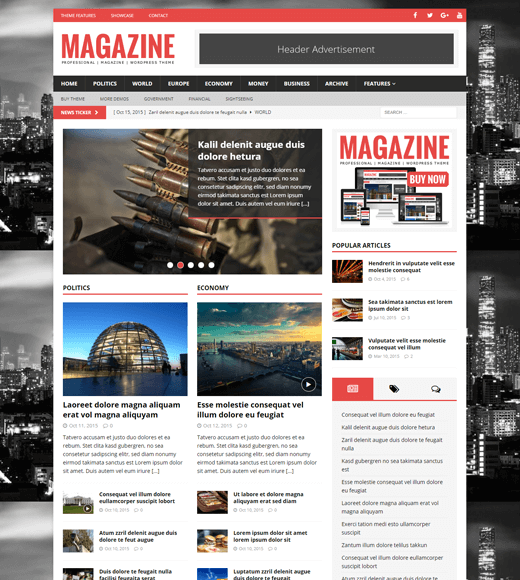 MH Magazine Best WordPress Theme