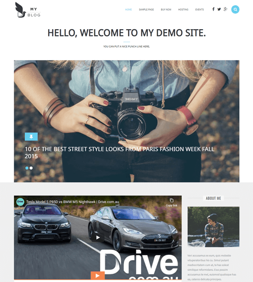 My Blog Best WordPress Theme
