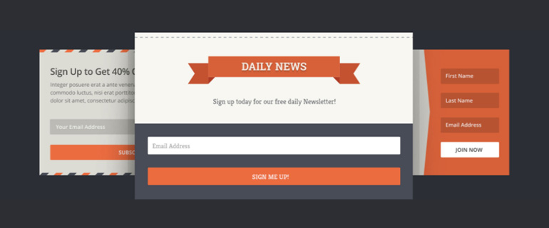 Email Subscription Forms