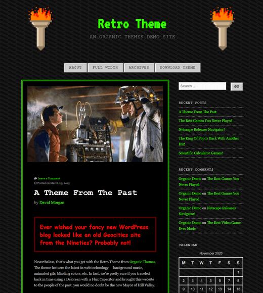 Retro WordPress Gaming Theme