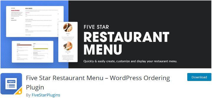 5 star restaurant menu