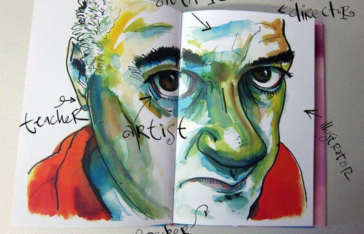 Danny Gregory -- self portrait.