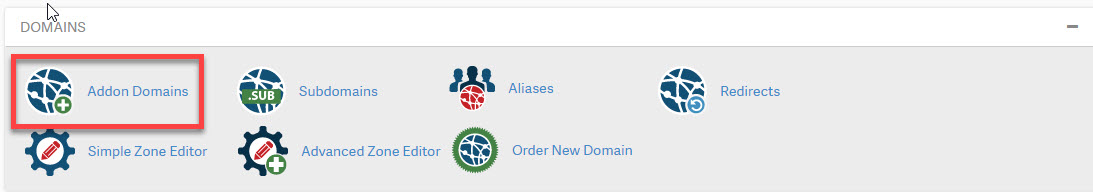 Click on Addon Domains