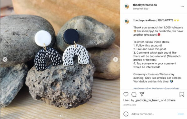 example of social media post by The Clay Creative Co
