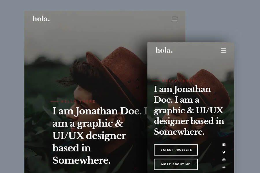 hola free resume html templates cv