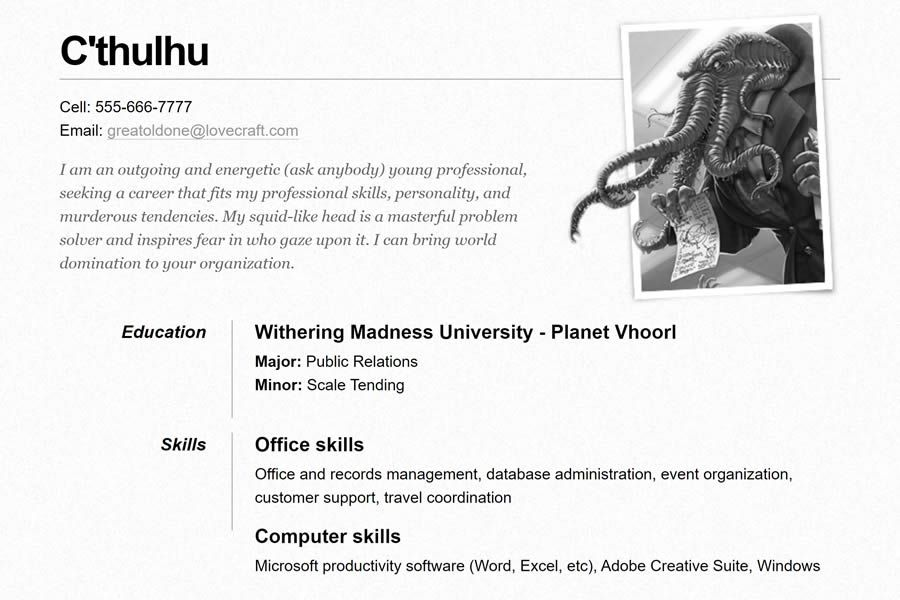 One Page free resume html templates cv