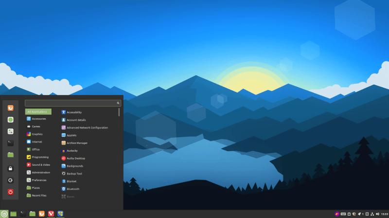 linux mint cinnamon desktop