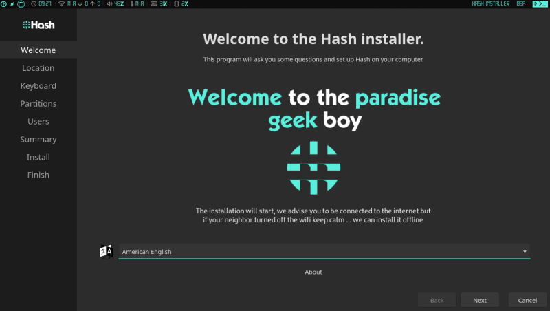 Installer Welcome Page