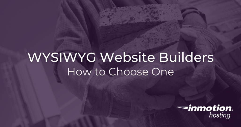 WYSIWYG Website Builders 1