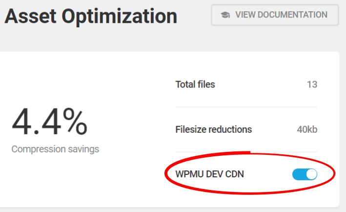 Hbird asset optimization turn CDN on