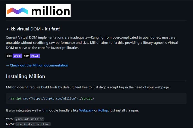 Example from Million