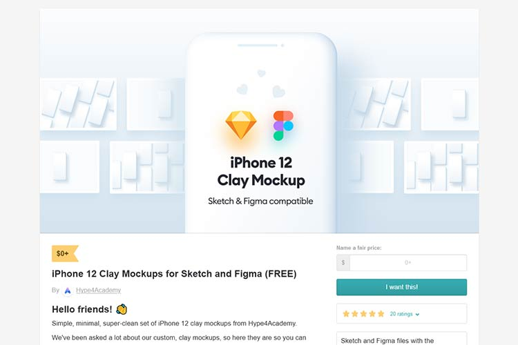 Example from iPhone 12 Clay Mockup