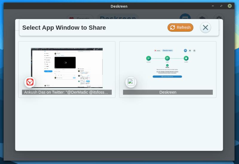 deskreen app window