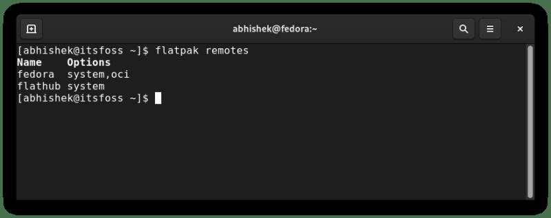 flatpak list repositories