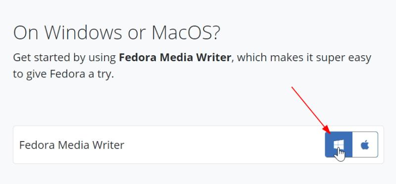 download fedora media writer tool