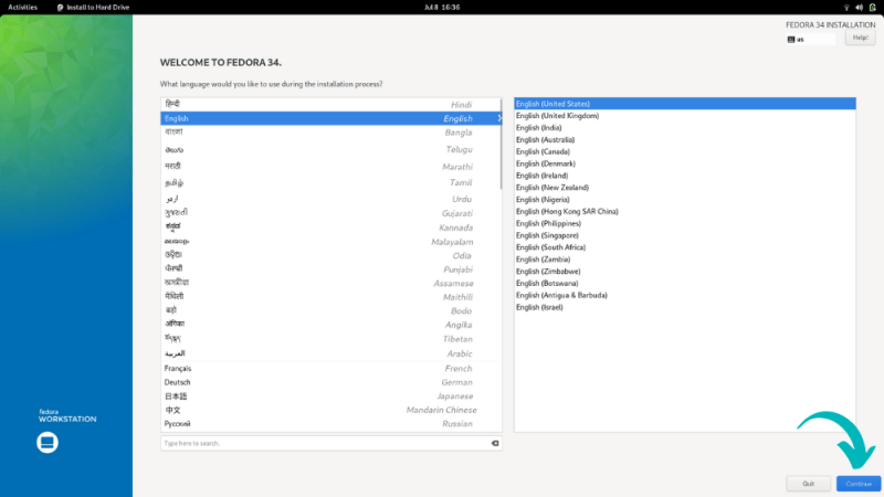 installing fedora Linux