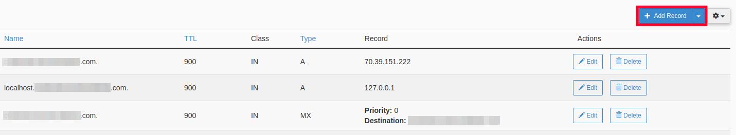 Setup DMARC - Add Record