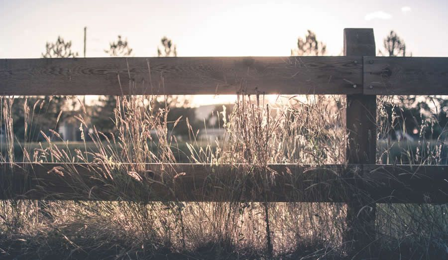 country farm field wooden fence