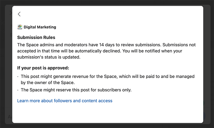rules for spaces on quora