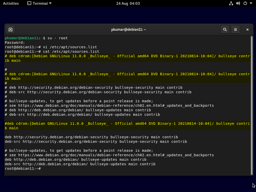 Disable-cd-repo-after-debian11-installation