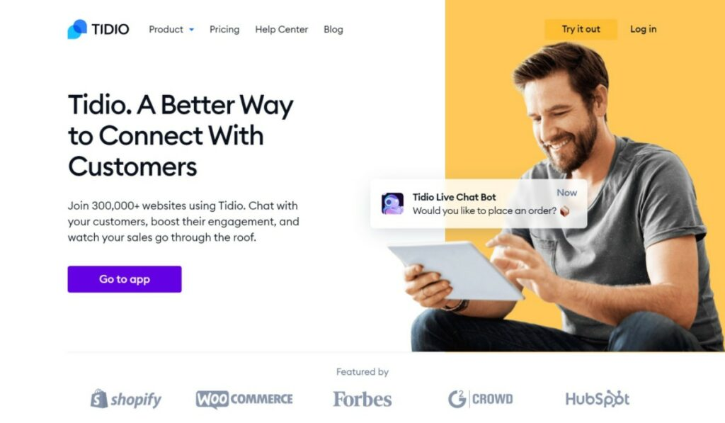 Tidio is one of the best customer support tools for live chat