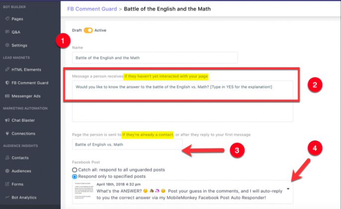 Hidden Facebook Marketing Tools That Will Increase Your Engagement comment guard from mobile monkey