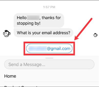 facebook hidden tool use mobile monkey to ask for email addresses
