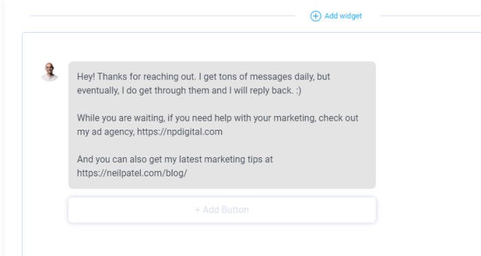 automate instagram direct messages example