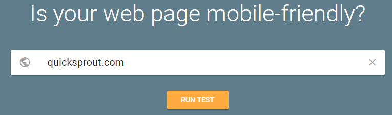 improve google ranking - mobile friendly test