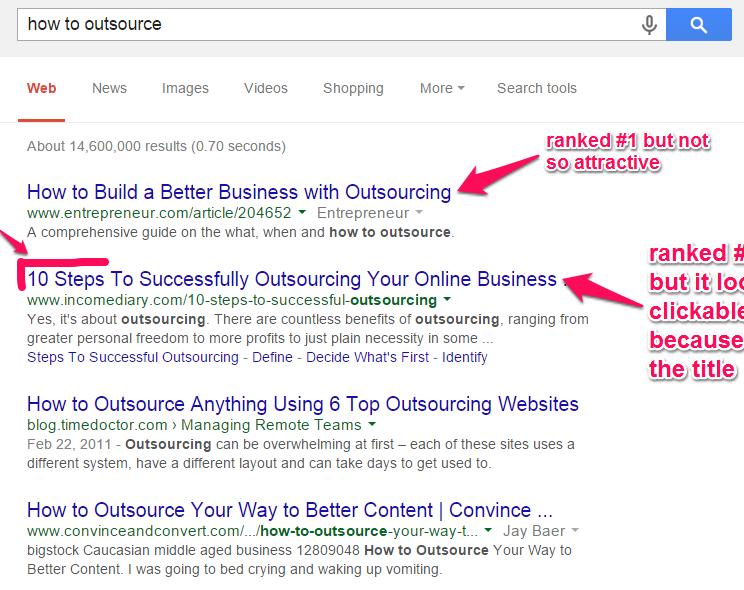 improve google rankings - catchy headlines example