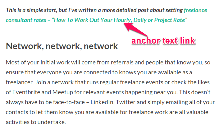 improve google rankings with anchor text links