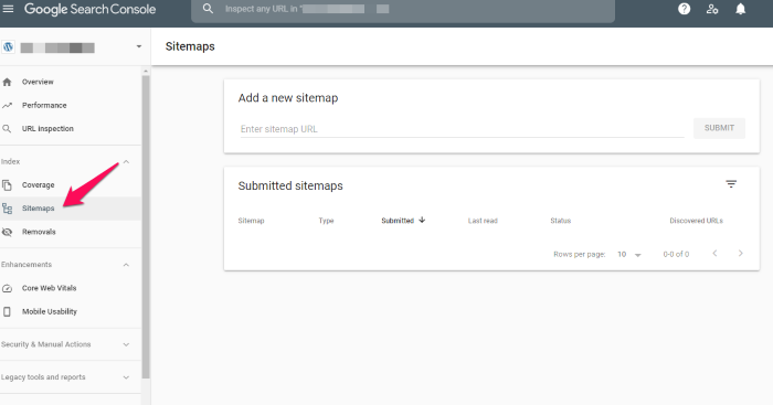 Google Search Console dashboard for How to Create an SEO-Boosting XML Sitemap
